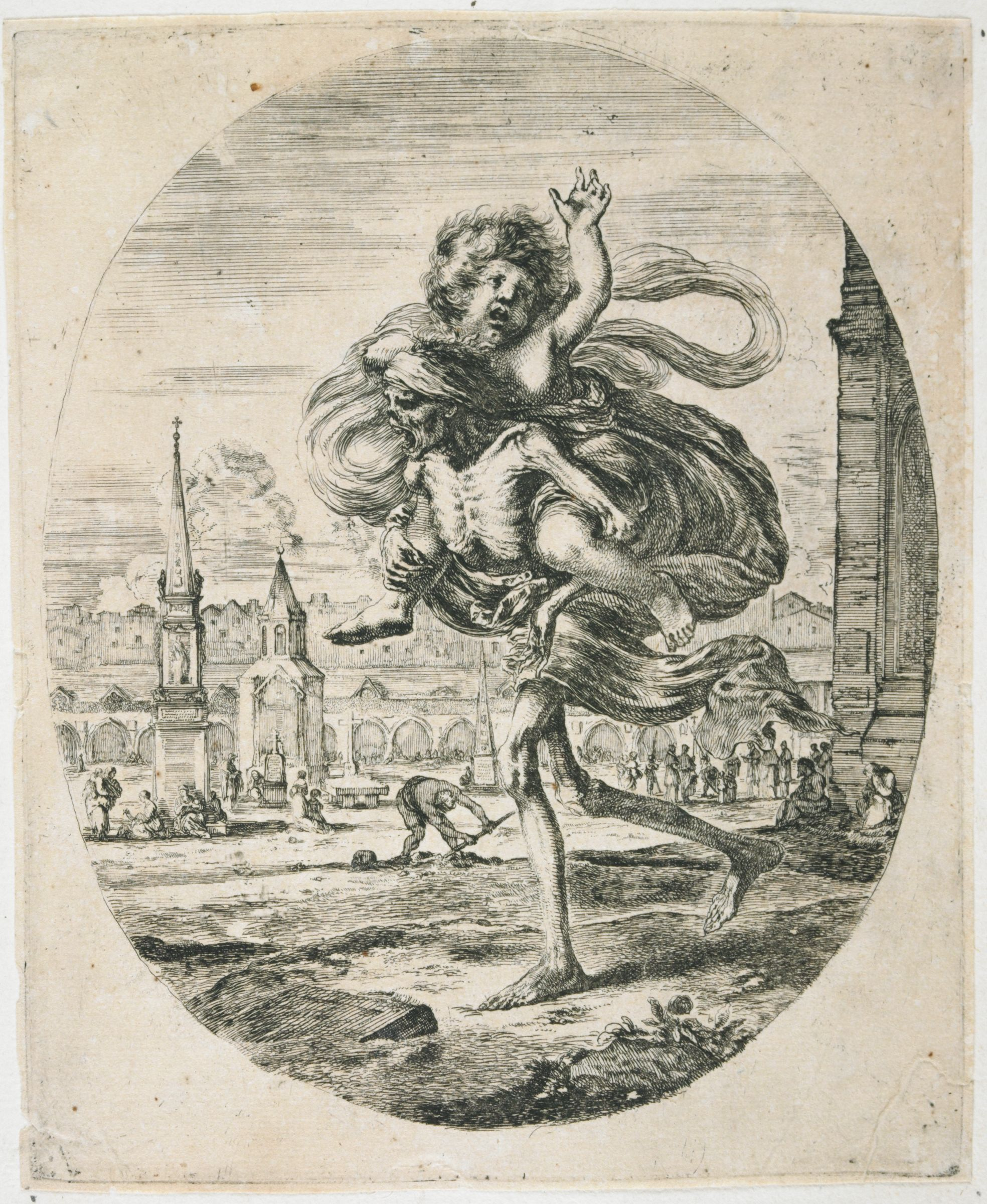Allegory Of Death: Death Carrying Off A Young Boy