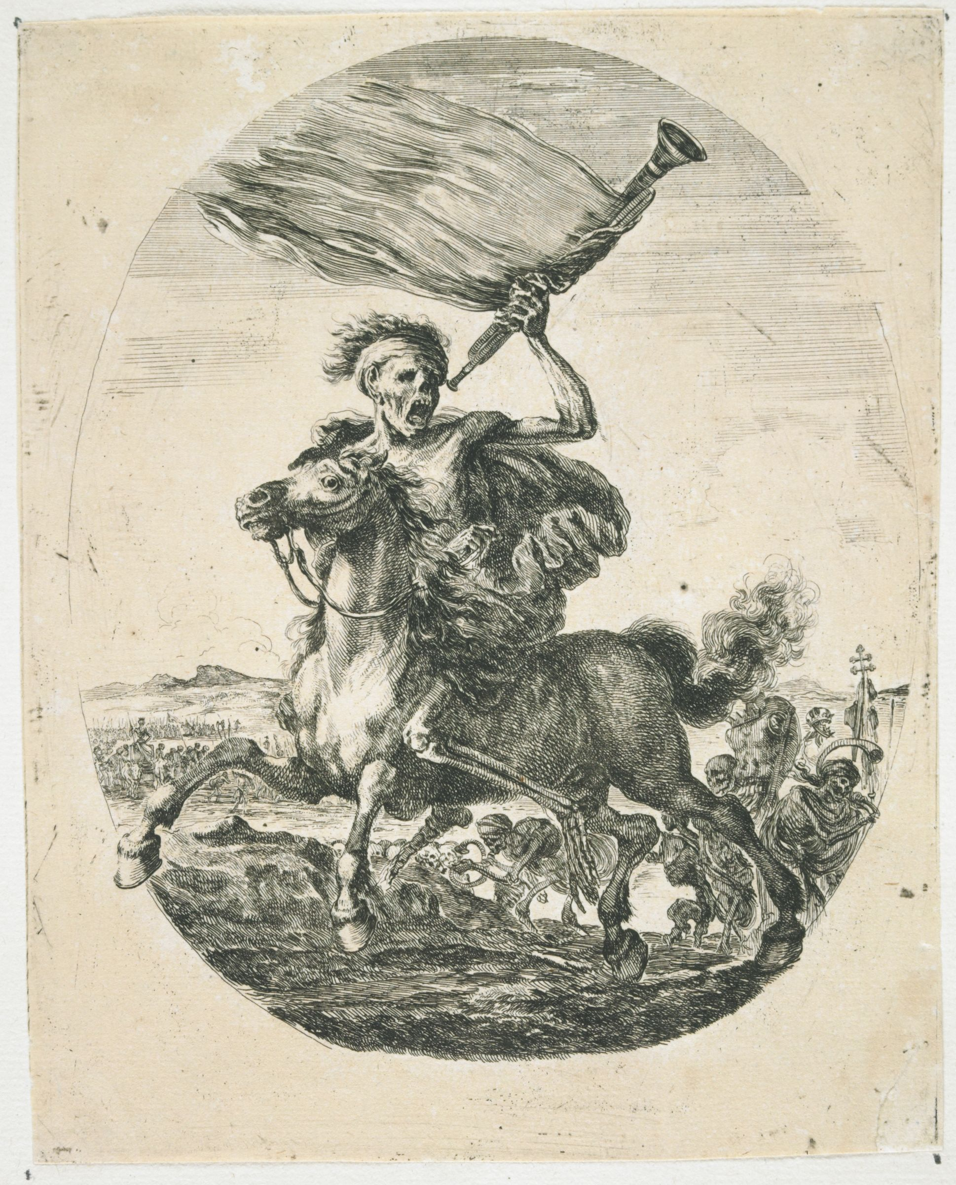 Allegory Of Death: Death On Horseback, With A Trumpet