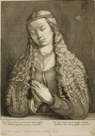 Portrait of a Woman with Long Hair, Her Hands Together in Prayer