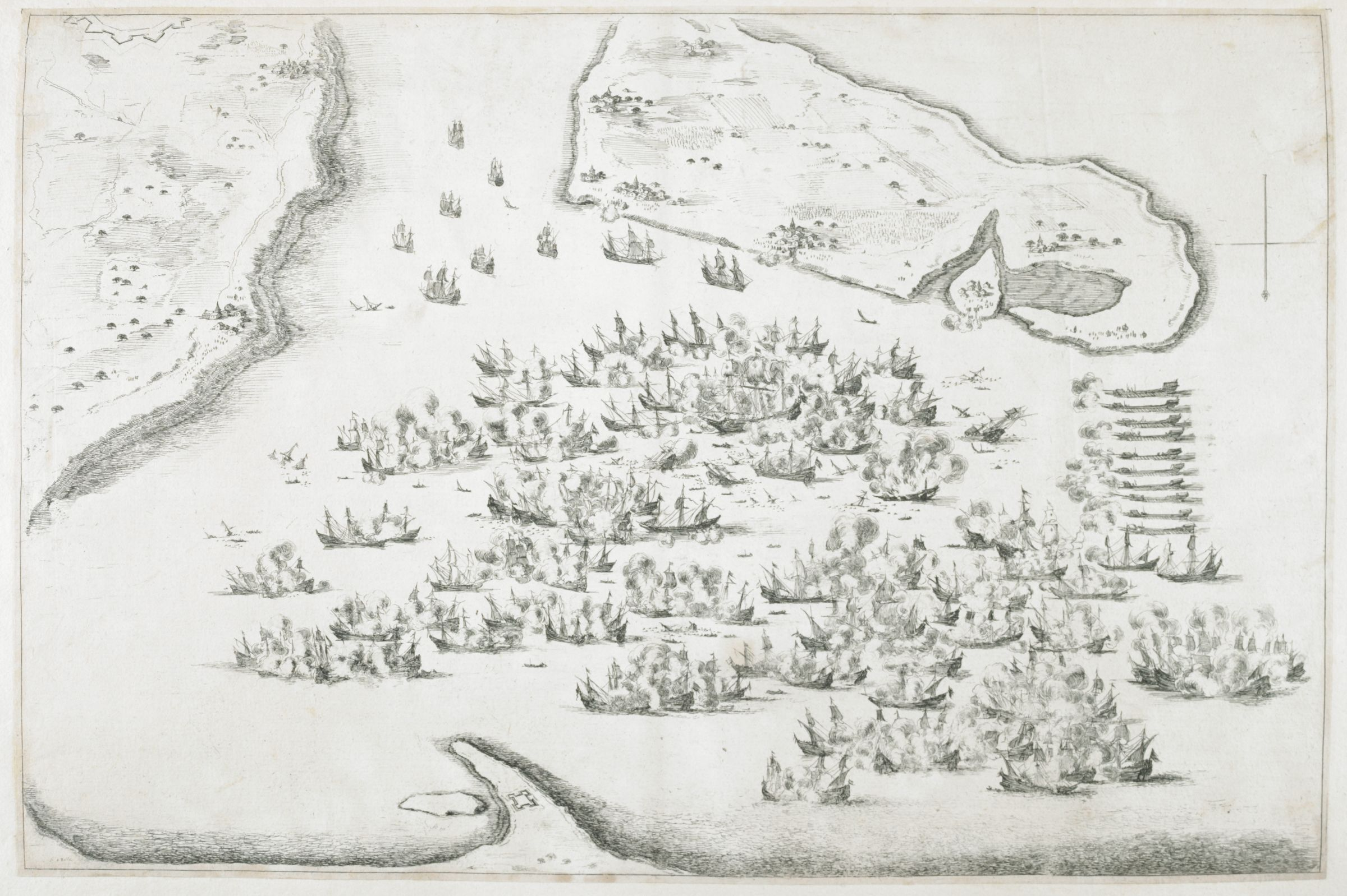 Naval Battle At La Rochelle