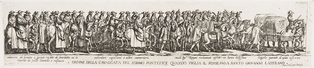 Procession Of The Pope To St. John Lateran