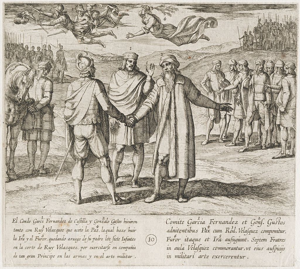 Garci Fernandez And Gonzalo Gustos, Father Of The Infantes, Persuade Ruy Velazquez To Make Peace
