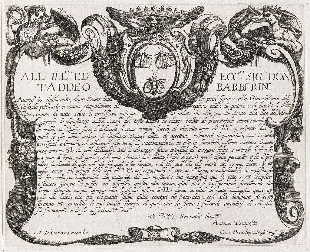 Frontispiece Dedicated To Prince Thaddaeus Barberini